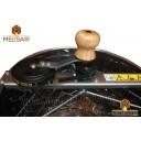 Медогонка 3-х рамочная не поворотная нержавеющая сталь AISI 304 на подставке.