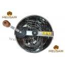 Медогонка 2-х рамочная не поворотная нержавеющая сталь AISI 430