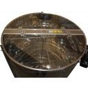 Медогонка радиальная 20Д\20Р\40П нержавеющая (марка стали 430) ременная передача, с подставкой, крышкой иэлектроприводом